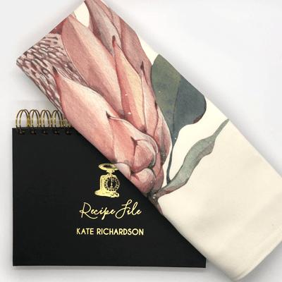 Tea towel and recipe set