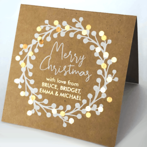 Gold Foiled Personalised Cards